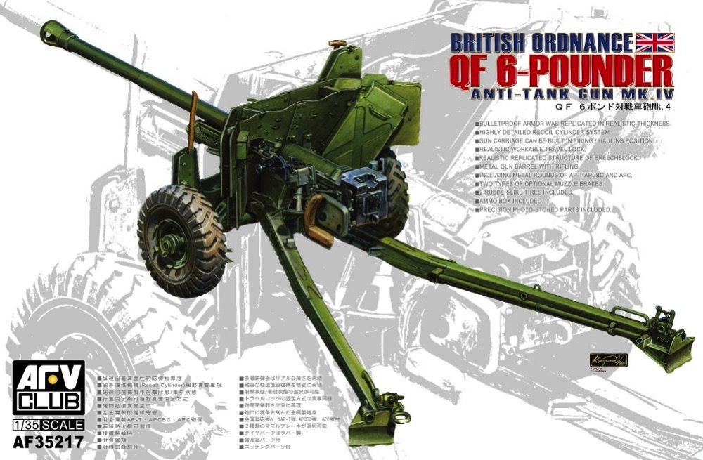 British Ordnance 6pdr Anti-tank Gun Mk IV