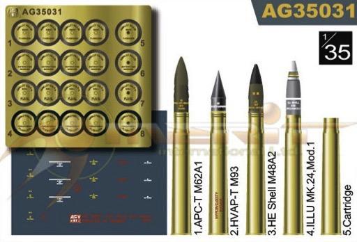 US 3 inch Howitzer Ammo Set