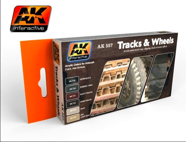 Track and Wheels Acrylic Paint Set (6 Colors)