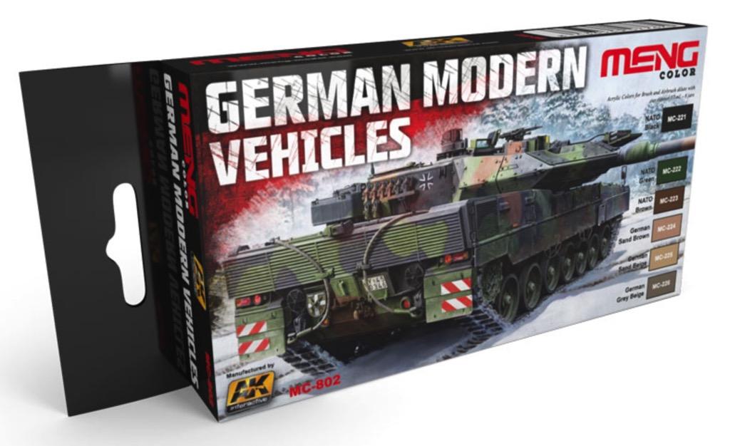 German Modern Vehicles Colors Acrylic Paint Set