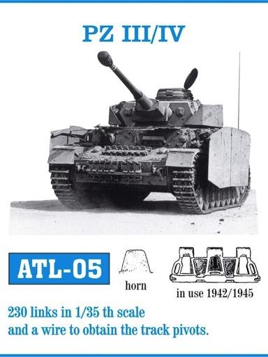 Metal Tracks  For Pz.Kpfw.Iv Stug Iii 1943-45 Solid-Horne  MTL-35012