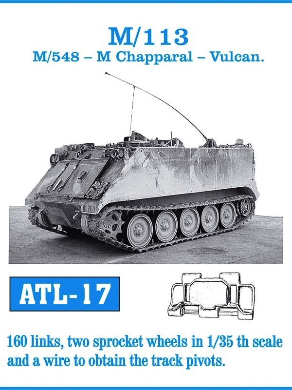 M113/548, Chapparal, Vulcan Track Set (160 Links)