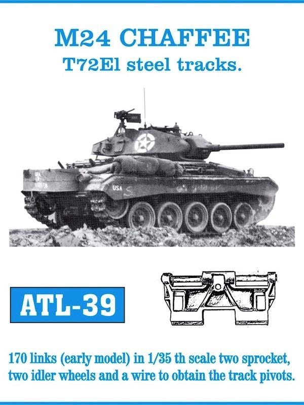 M24 Chaffee T72e1 Early Track Set (170 Links)