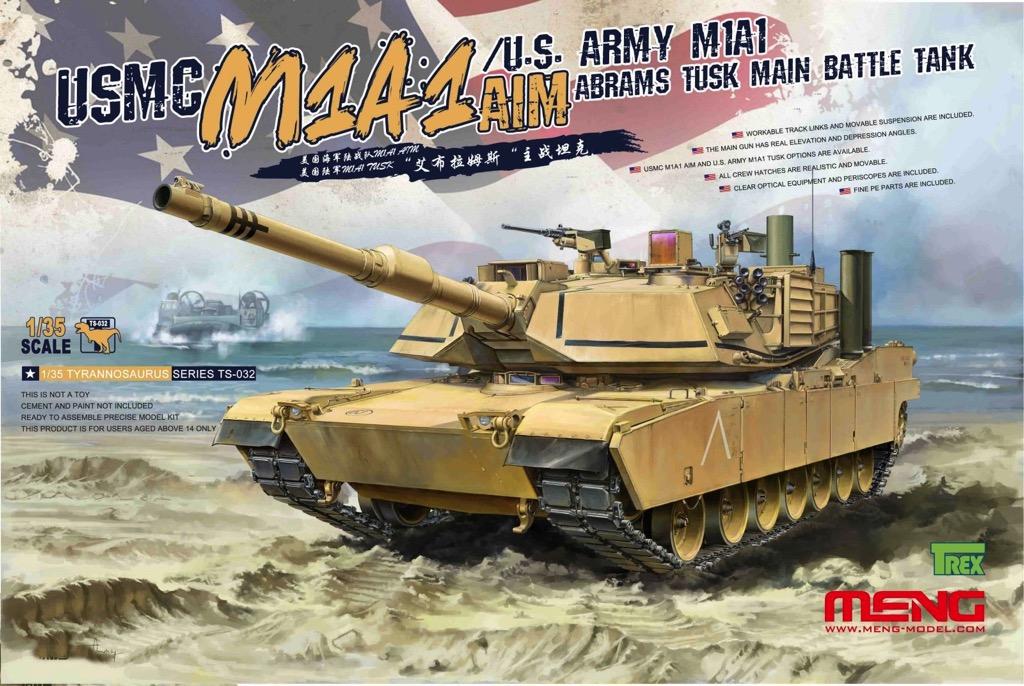 3262632696e38c Scalehobbyist.com: USMC M1A1 AIM / US Army M1A1 Abrams TUSK MBT by Meng  Models