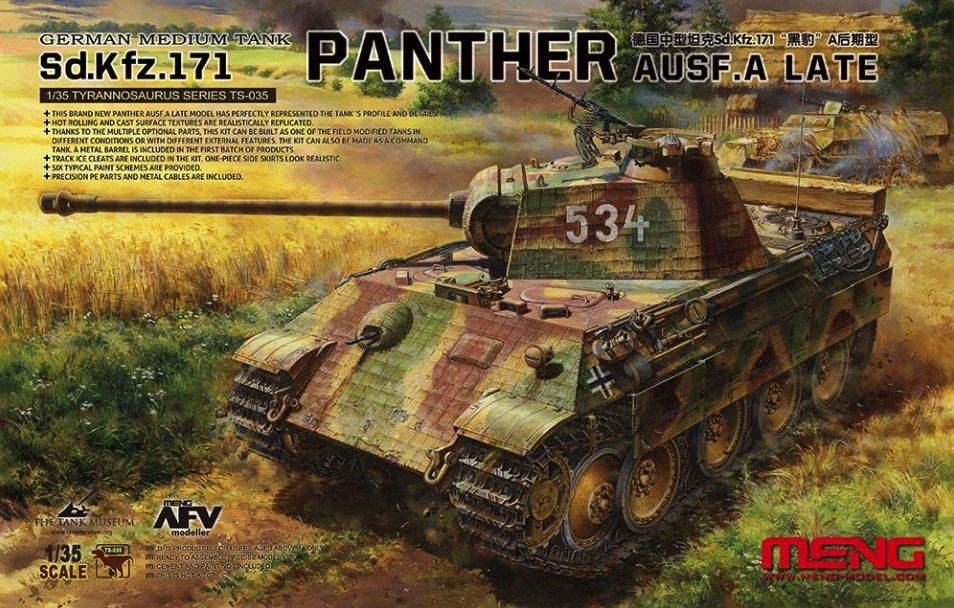 Aber 1//35 7.5cm KwK42L//70 Gun Barrel for Panther Ausf.A//D//G or Panther II