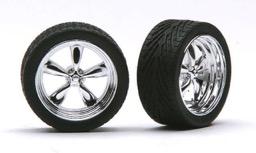 "Aoshima 1//24 Techno TRV 14/"" Tire and Wheel Set 53867 AOS53867"