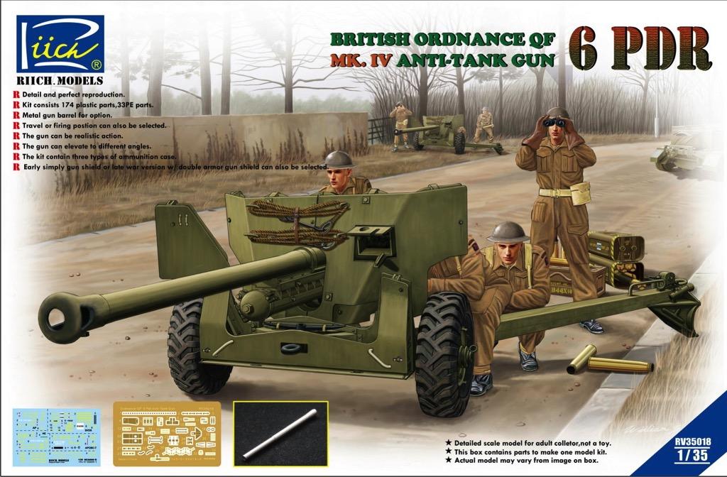 British Ordnance QF 6 Pdr  Mk IV Anti-tank Gun