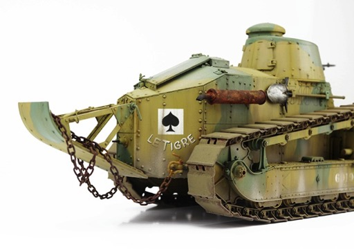 french renault ft char mitrailleur w girod turret by takom models. Black Bedroom Furniture Sets. Home Design Ideas