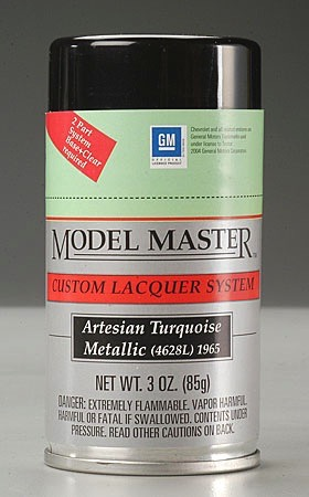 Artesian Turquoise Metallic 1965 Chevrolet Spray By Testors Models And Paints