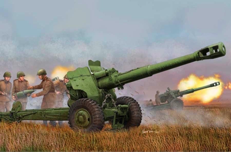 KrAZ-255B Pritsche Plane mit D-20 152mm towed gun-howitzer NVA UdSSR 1:87 H0