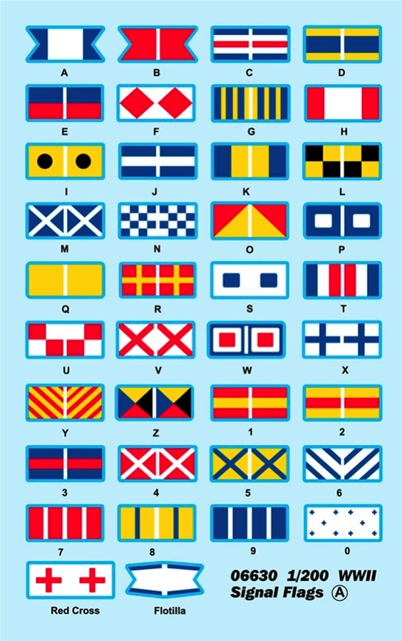 TRUMPETER® 06630 WWII Signal Flags Decal Set in 1:200