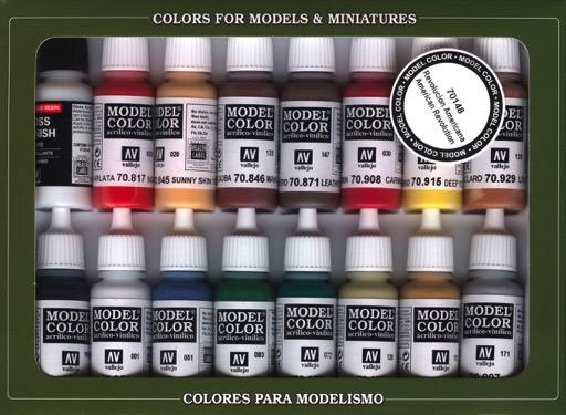 American Revolution Model Color Paint Set