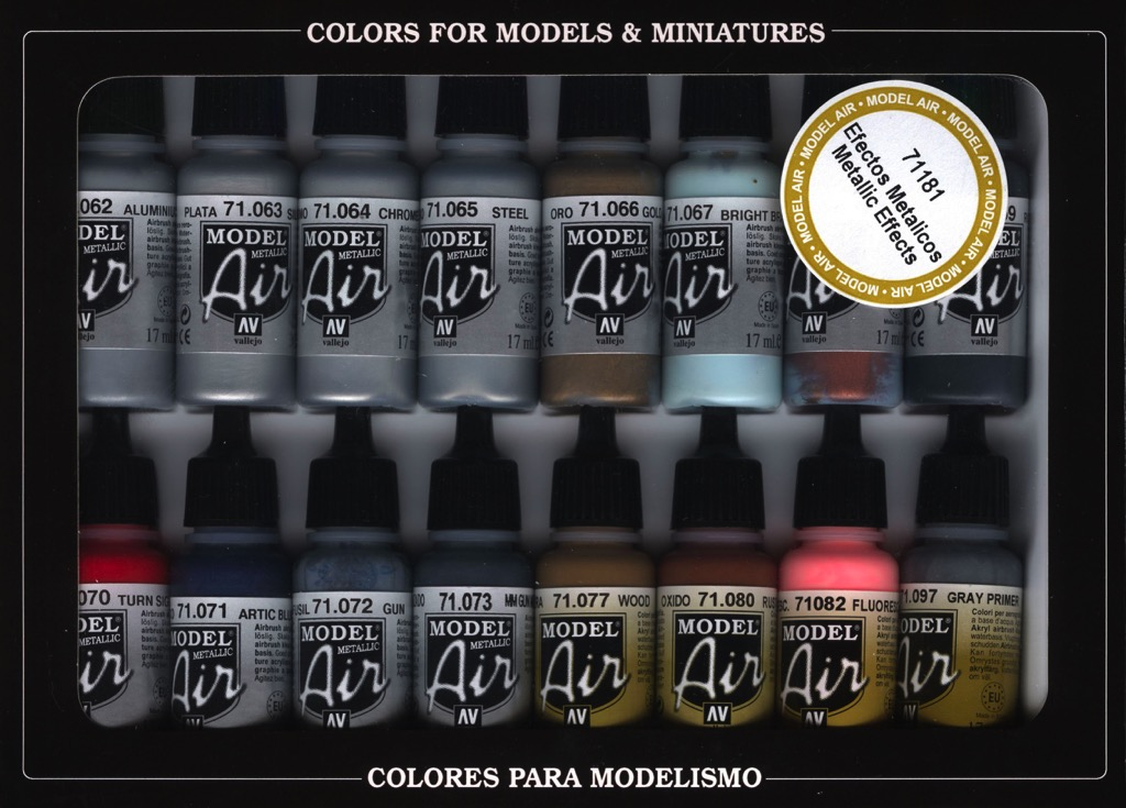 Metallic Model Air Paint Set