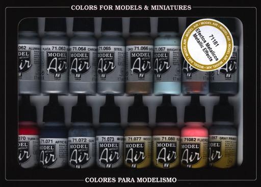 Vallejo Metalic Paint Set