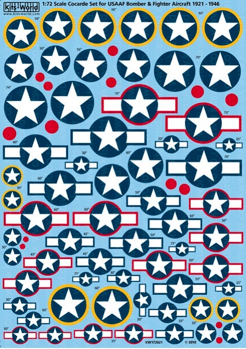 Cocarde Stars and Bars for USAAF Bombers and Fighters